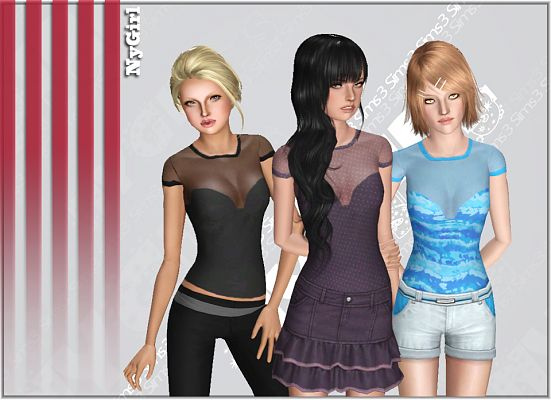 Sims 3 outfit, fashion, clothing, female, shirt