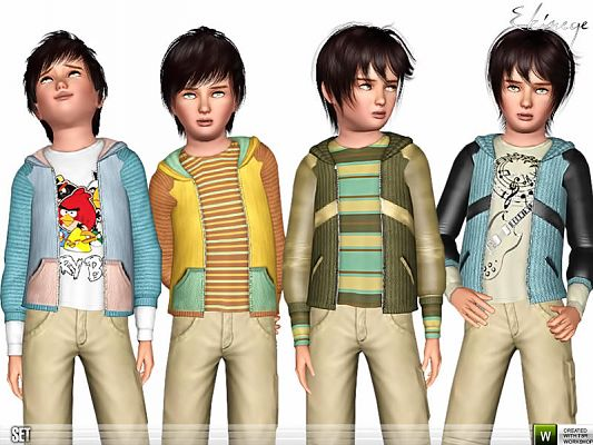 Sims 3 outfit, hoodie, clothing, child