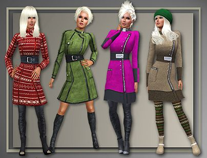 Sims 3 clothes, coats, outwear
