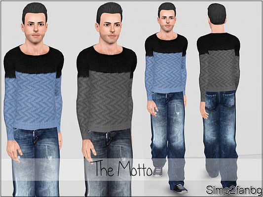 Sims 3 top, clothing, male, outfit, jeans