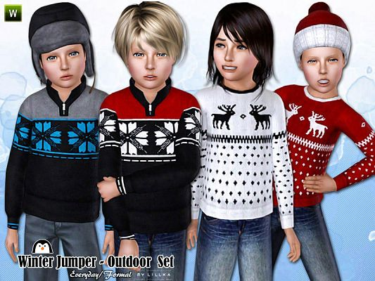 Sims 3 top clothing, male, outfit, jeans, child