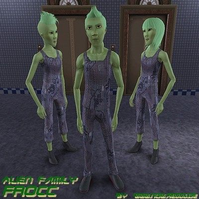 Sims 3 sim, sims, model, sims3, female, male, family, alien