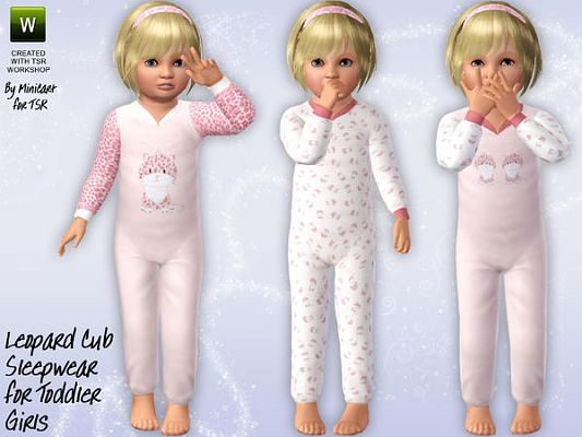 Sims 3 sleepwear, toddlers