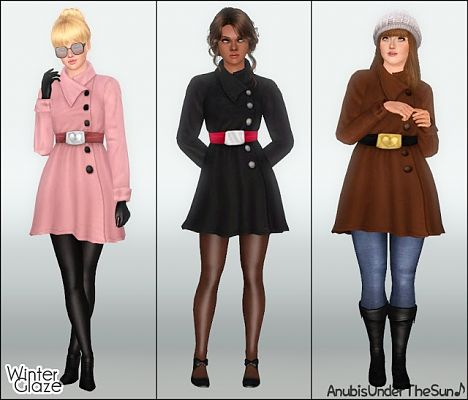 Sims 3 outwear, coat, outfit, clothes