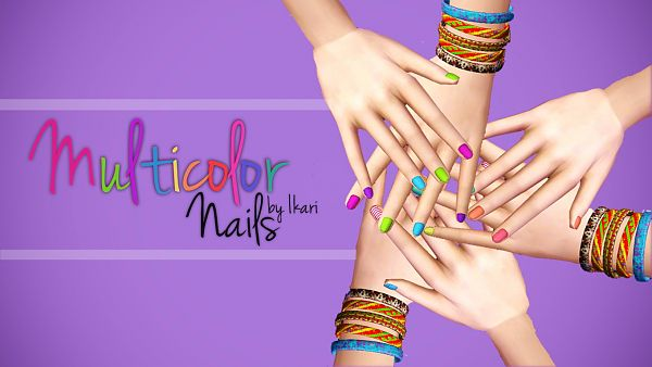 Sims 3 nails, accessory, sims3, colors