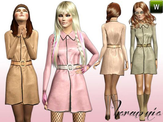 Sims 3 leather, jacket, belt, coat