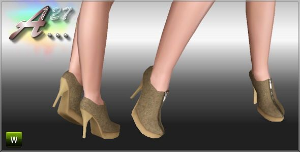 Sims 3 boots, shoes, heels