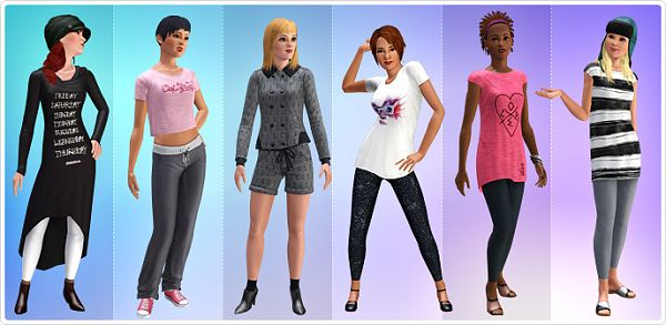 Sims 3 cloth, clothes, fashion, set, 55dsl