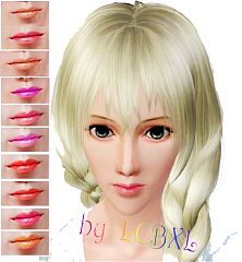 Sims 3 makeup, lips, lipstick