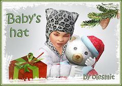 Sims 3 accessories, hat, toddler