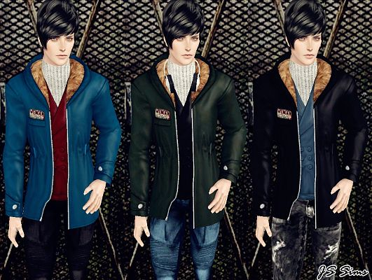 Sims 3 jacket, fur, top, outwear, clothing