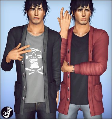 Sims 3 sweater, pullover, top, males, vlothes