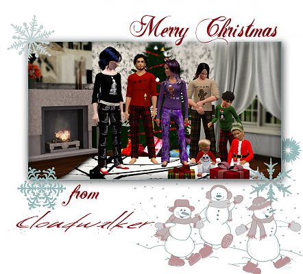 Sims 3 clothes, christmas, set