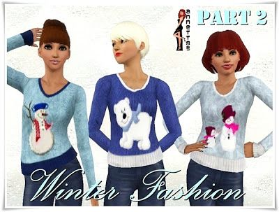 Sims 3 sweater, jeans, fashion, clothing