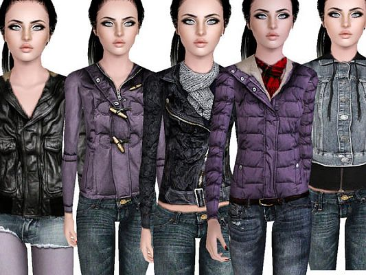 Sims 3 outdoor, set, clothing, teen