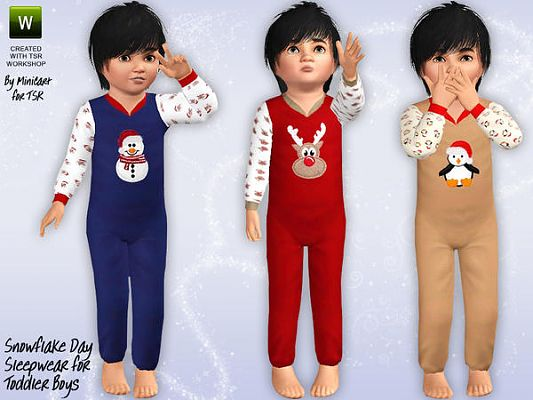 Sims 3 pj, pajamas, sleepwear, toddlers