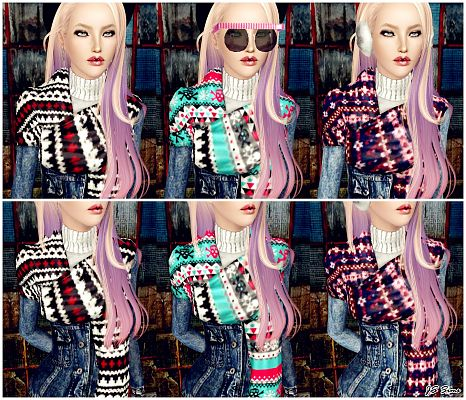 Sims 3 jacket, scarf, top, clothing, female
