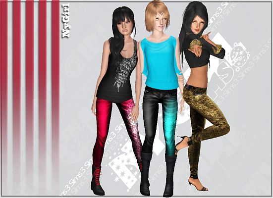 Sims 3 clothing, female, outfit, jeans
