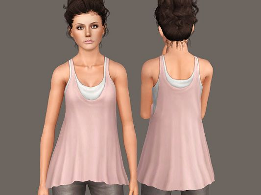 Sims 3 top, outfit, fashion, clothing, casual, female, earrings, jewelry