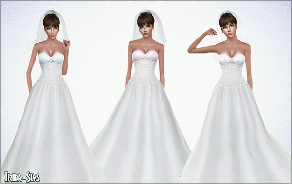 Sims 3 wedding, dress, gown, bride