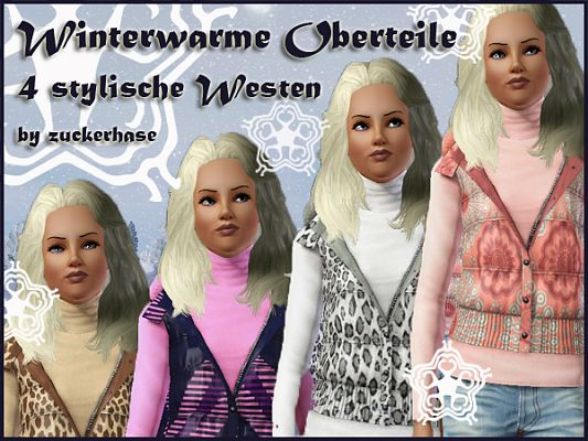 Sims 3 vest, clothing, winter, fashion