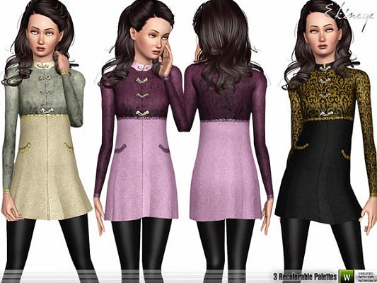 Sims 3 coat, outwear, clothing, fashion