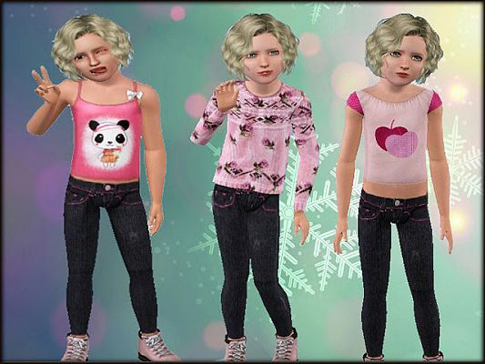 Sims 3 denim, jeans, clothing, sims 3