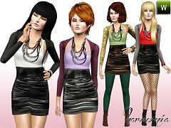Sims 3 outfit, dress, clothing, teen