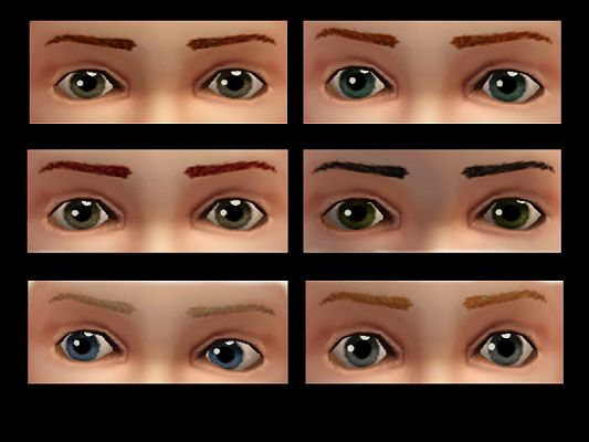 Sims 3 brows, eyebrows, toddlers