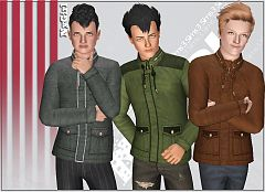 Sims 3 outfit, clothing, male, jacket, outerwear