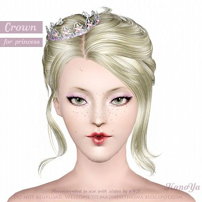 Sims 3 accessories, hat, crown, fashion, female
