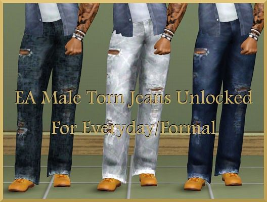 Sims 3 clothing, male, outfit, jeans