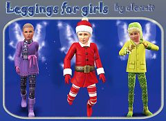 Sims 3 leggins, tights, accessories, female, child