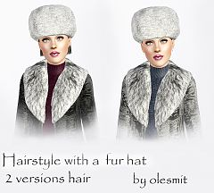 Sims 3 hat, accessories, female, hairstyle