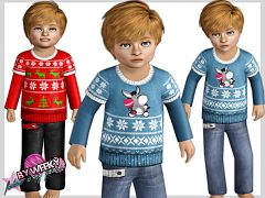 Sims 3 top, jeans, toddler, clothing