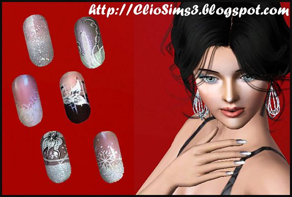 Sims 3 nails, accessories, fashion, female
