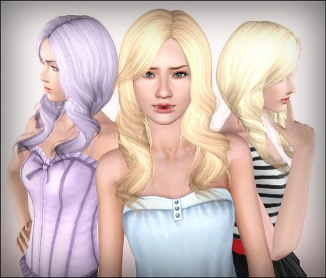 Sims 3 hair, hairstyle, female, sims 3, sims3, retexture