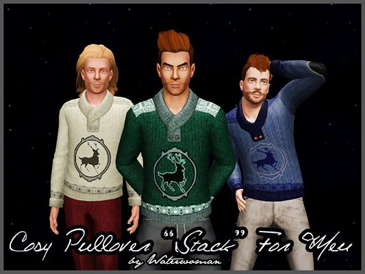Sims 3 sweater, pullover, top, males, fashion