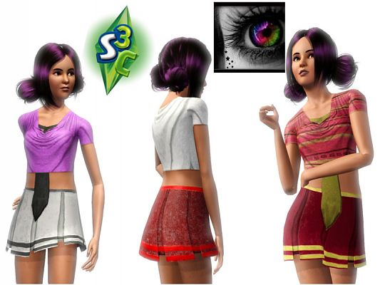 Sims 3 clothing, uniform, females