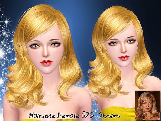 Sims 3 hair, hairstyle, female, sims 3