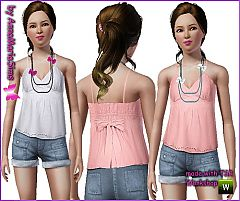 Sims 3 ribbons, necklace, babydoll top