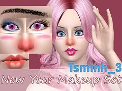 Sims 3 eyeliner, mascara, makeup, sims 3, eyeshadow, gloss, brows