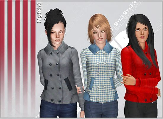 Sims 3 jacket, top, female, fashion, sims 3