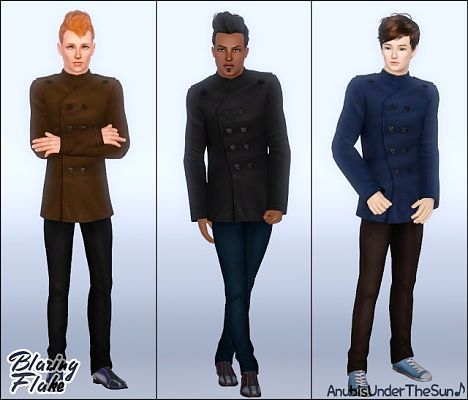 Sims 3 coat, outwear, males, sims 3