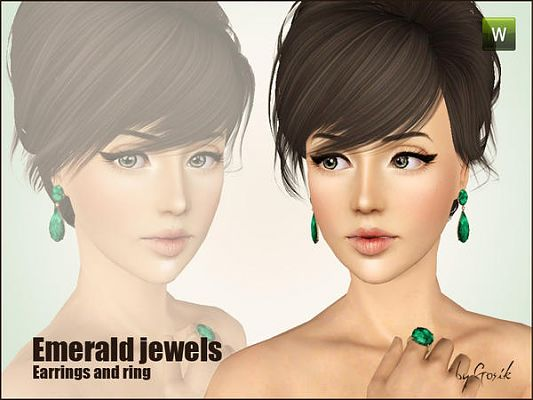 Sims 3 earrings, accessory, jewelry, sims 3