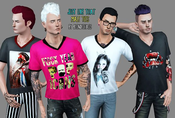 Sims 3 tee, top, clothing, male