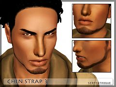 Sims 3 facial hair, male, chin strap