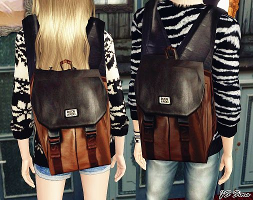 Sims 3 accessory, backpack