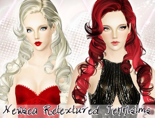 Sims 3 hair, hairstyle, female, sims3, retexture