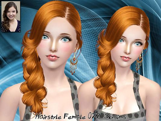 Sims 3 hair, hairstyle, female, sims3